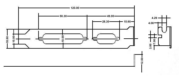 Pc L Bracket With 1 Db09 Cutout And 1 Db25 Cutout Iec