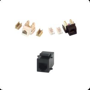 _ Inserts with RJ11 (4 pin, 6 pin, 6 pin MMJ)