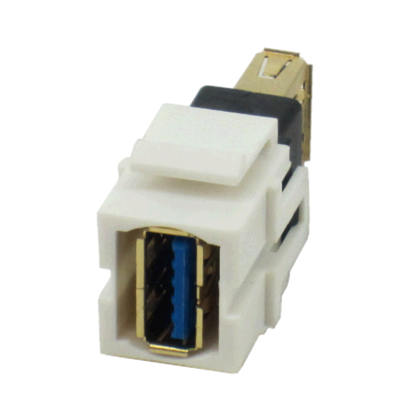 Usb 3 0 Type A Female To Female Connector On Flush Mount