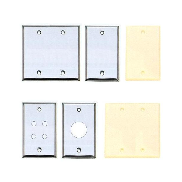 Wall Plates - Blank & Empty Round Hole