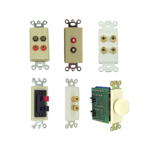 Inserts with Audio Speaker Connectors