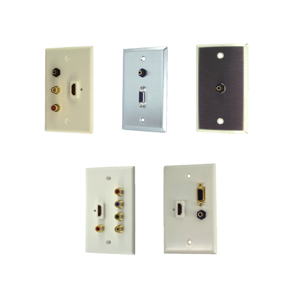 Wall Plates with Audio Speaker & Microphone Connectors