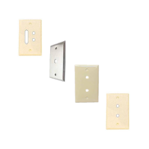 Wall Plates with Coax & Fiber Optic Connector Cutouts