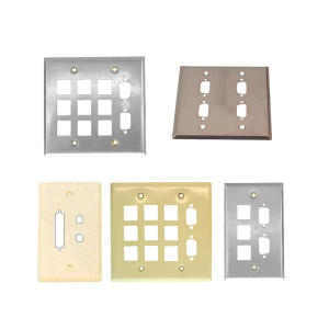 Wall Plates with D-Sub (DB9 DH15 DB15 DH26 DB25 & DH44) Cutouts