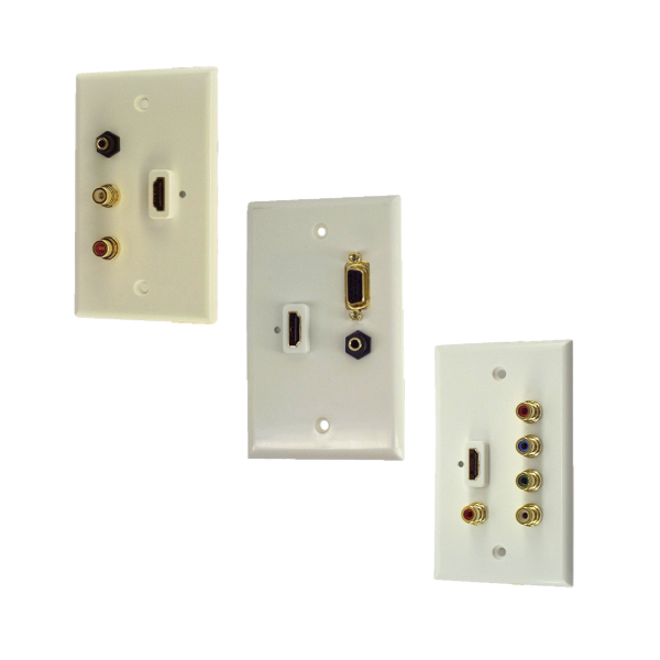 Wall Plates with DVI & HDMI