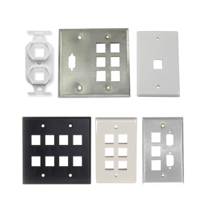 Wall Plates with Keystone Cutouts
